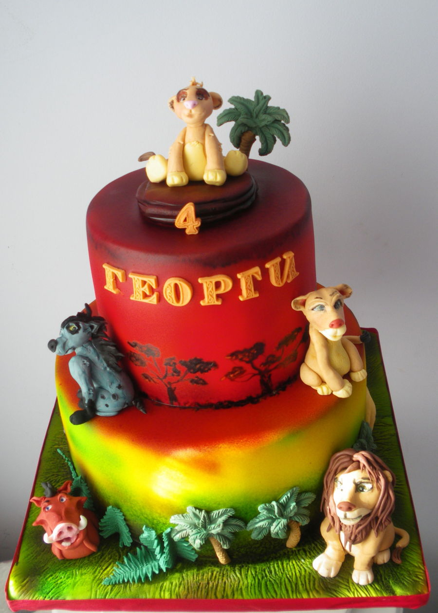 lion king cake the king cake cakecentral 5555