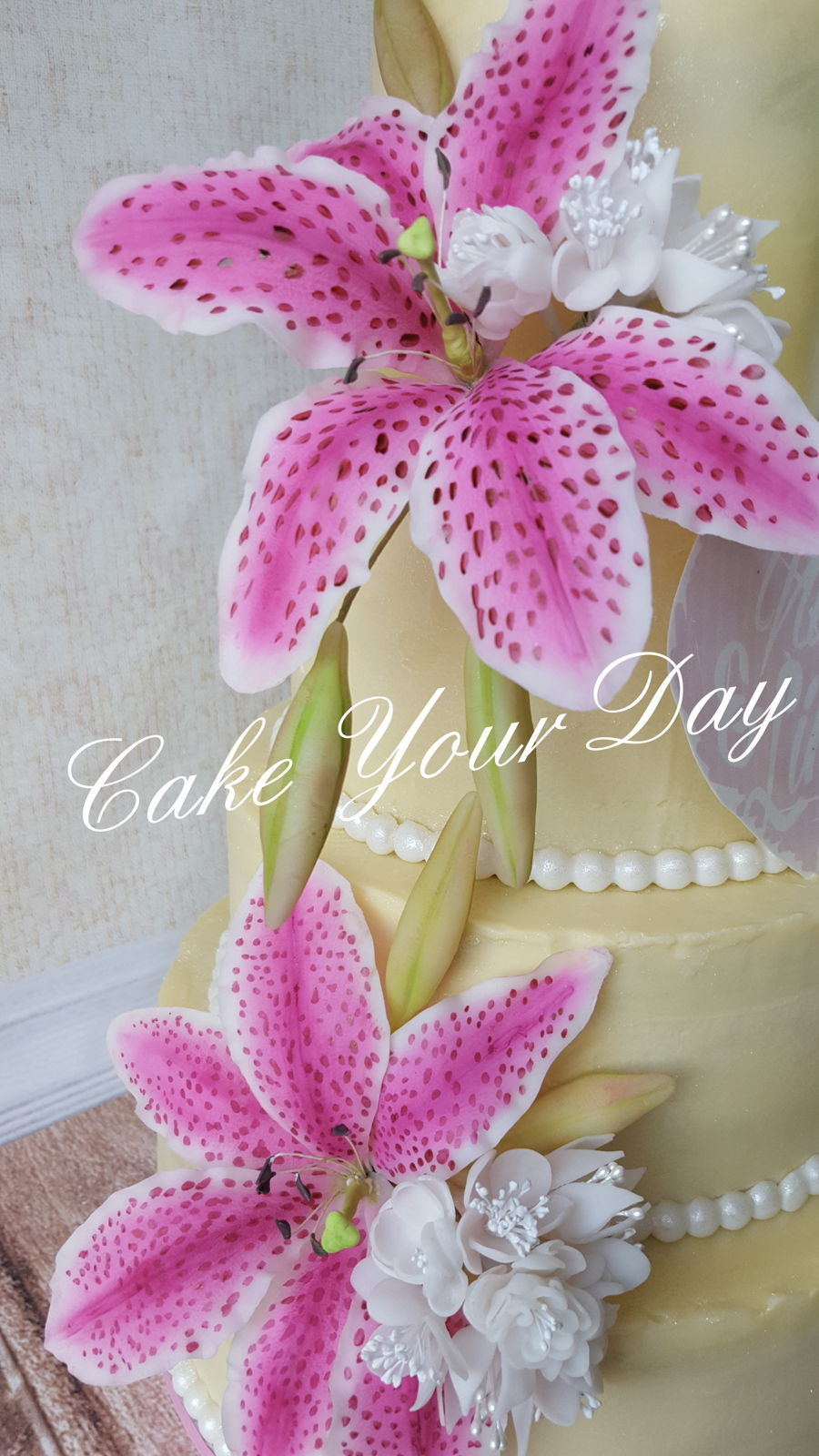 Tiger Lily Wedding Cake on Cake Central