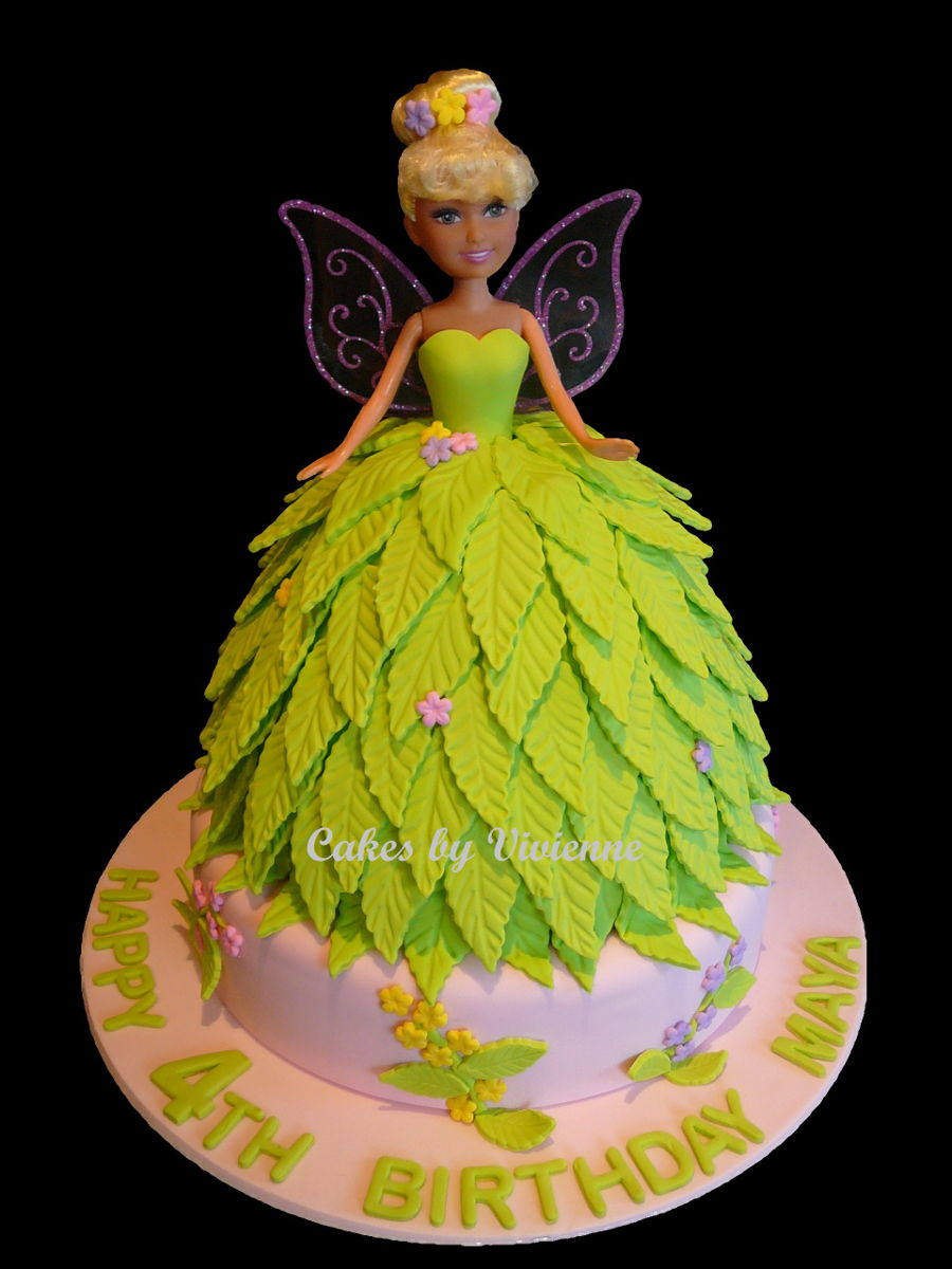 tinkerbell doll cake   cakecentral