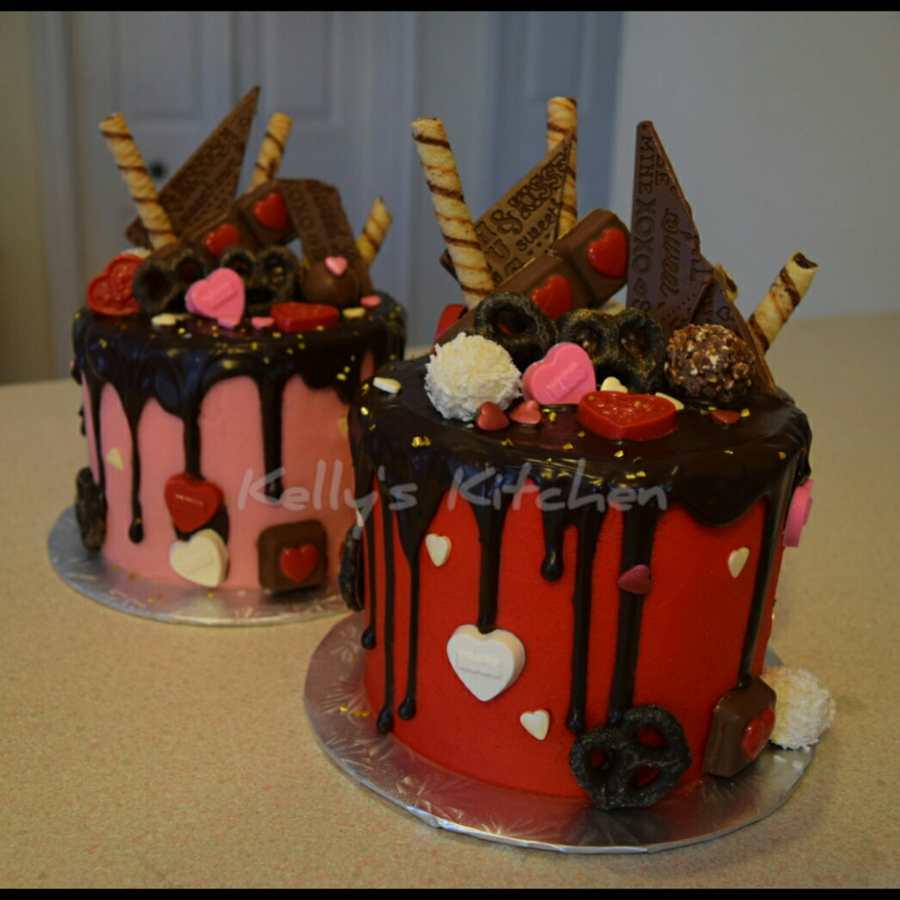 Valentine S Day Drip Cake Cakecentral Com