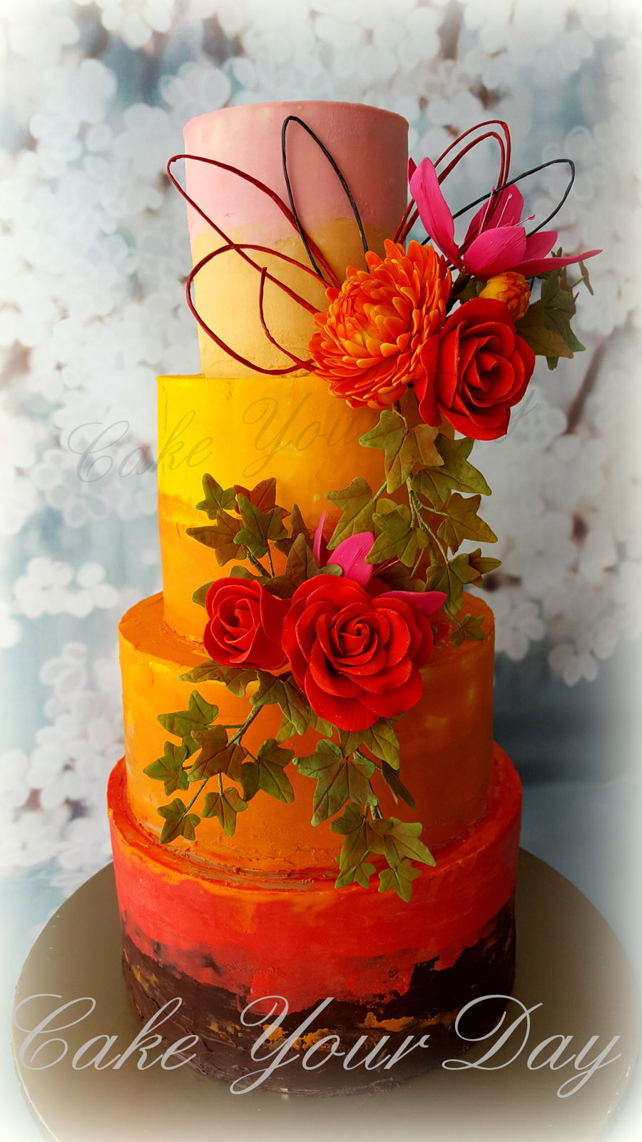 Wedding Cake Fall on Cake Central