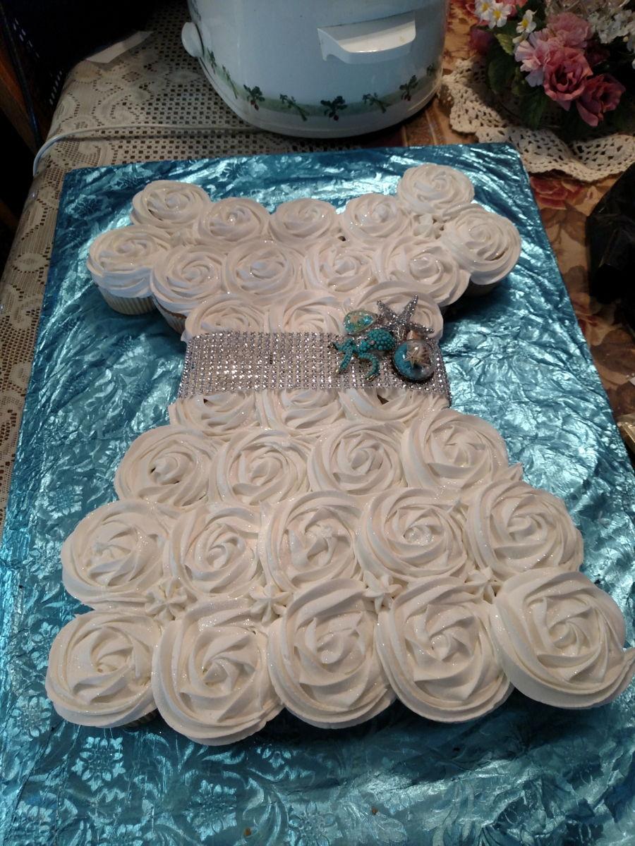 wedding shower cupcake cake on cake central