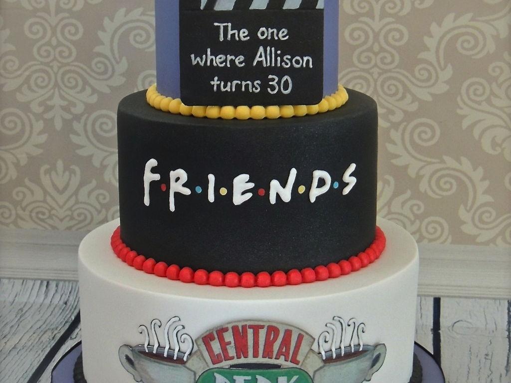 Friends Themed 30Th Birthday Cake