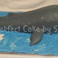 3-D Whale Realistic whale cake for future marine biologist. All cake covered in fondant except for the fondant fins. I forgot to take pictures of the...