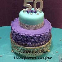 50Th Birthday Cake I made this cake for my sister with lots of love!! Her birthday was on December 31st..