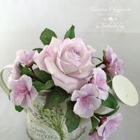 A Small Sugar Flower Bouquet In Light Lilac Tones A small sugar flower bouquet in light lilac tones for you!