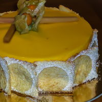 Angel-Mango Mousse Cake A delicious option for people trying to reduce cholesterol without compromising flavor. Angel food cake layers inside a fat free mango...