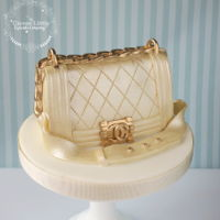 Chanel Boy Handbag Cake Topper Made from a solid lump of icing, it is very heavy!!