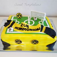 Communion Cake Communion cake for a very big soccer fan of a German Team.