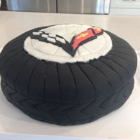 Corvette Tire This was my first attempt at fondant. I bought already tinted black fondant for the tire, and made marshmallow fondant for the rest. I...