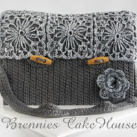 Crochetted Bag 3 D Cake turned my idea in to a real edible 3 d cake. hope you like it ;)