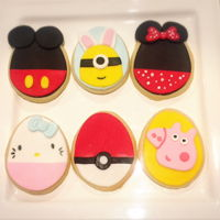 Easter Cookie Mickey & Minnie, Minion, Hello Kitty, Pokemon and peppa pig