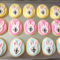 Easter Cookie decoration with fondant