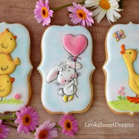 Easter Cookies. Royal icing Easter cookies.