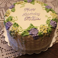 Grapes And Hydrangeas Perfect cake for wine lovers