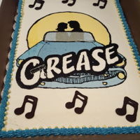 Grease Cake I made for the cast party when our high school performed GREASE.