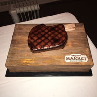 Groom's Cake My boss owns a local meat market and he chose this for his groom's cake :)