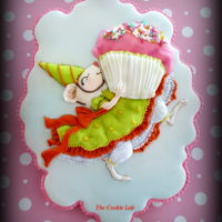 Happy B-Day! A Coloured Royal Icing decorated Cookie to celebrate a Princess's B-Day!