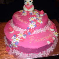 Helllo Kitty Cake created for a friends little girl.