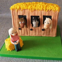 Horses And Stable Birthday Cake Horses and Stable birthday cake