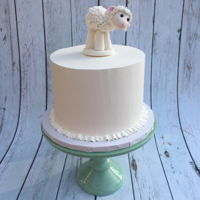 Lamb Cake Vanilla cake with Italian Meringue buttercream and handmade gum paste lamb