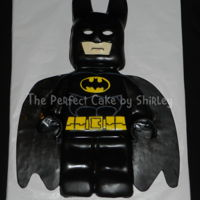 Lego Batman Cake Lego Batman. All cake, carved and covered in fondant.