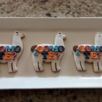 Llamas Baby Shower Cookies NFSC with fondant.