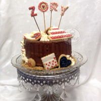Love In A Cake Delicious chocolate cake with caramel drip and cookies accents