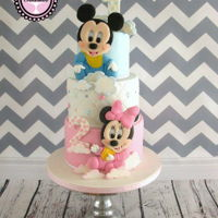 Mickey And Minnie For a 1st an 2nd birthday
