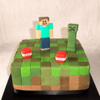 Minecraft Cake Minecraft cake for grandson -