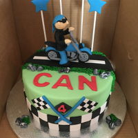 Motorcycle Cake motorcycle cake for a 4 years old boy