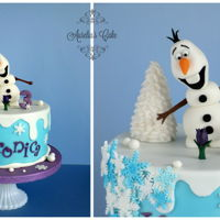 Olaf Cake Cake for little Veronica who loves Olaf very much :)