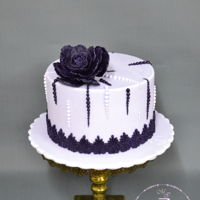 Purple Cake Purple cake with flower
