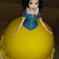 Snow White Doll Cake My niece asked me to make a snow white doll cake for her birthday.