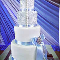Something Blue! For a beautiful bride that loves all things blue!! Red velvet, chocolate,red velvet and vanilla
