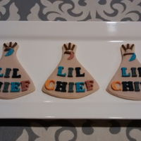 Teepee Baby Shower Cookies NFSC with fondant