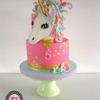 Unicorn Cake For a sweet little girl i made this sweet unicorn cake!