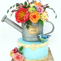 Watering Can Spring watering can cake