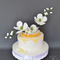 White Spring Cake for a special girl and her family