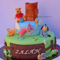 Winnie The Pooh Cake This Winnie the pooh cake. My favorite is the flying piglet.