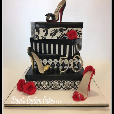 50Th Birthday High Heel Cake