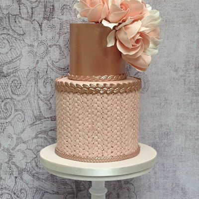 Blush Pink And Rose Gold Birthday Cake