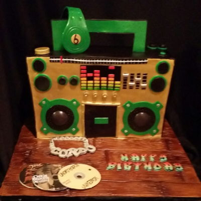 Boom Box Cake First attempt at a. Stand up boom box cake stayed up the whole car ride! Everything is made of fondant