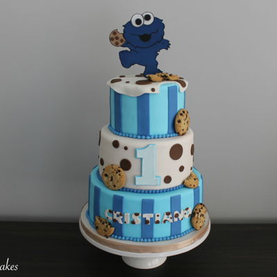 Cookie Monster Birthday Cake Cookie Monster birthday cake