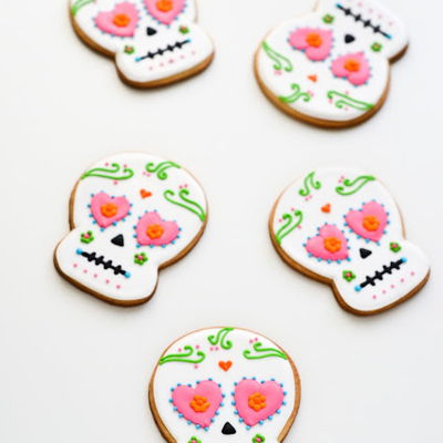 Dia De Los Muertos Sugar Skull Cookies dia de los muertos sugar skull cookies - buttery sugar cookies decorated with royal icing