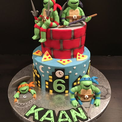 Ninja Turtles Cake ninja turtles cake for a 6 years old boy.