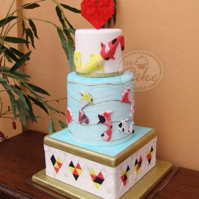 Fondant Origami Cake Decorating Photos