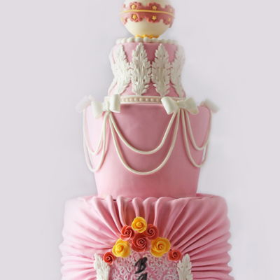Rococo Baby Shower Cake