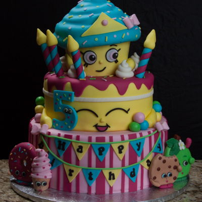 Shopkins Birthday Cake 6, 9 and 12 inch cakes