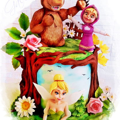 Tinkerbell, Masha And The Bear